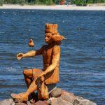 Holzfigur In Heiligenhafen